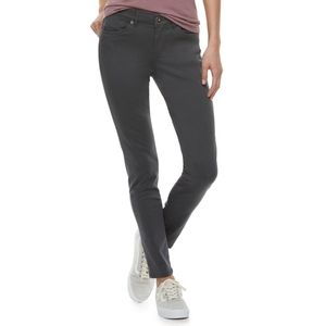 Unionbay juniors jeans in olive green 4% spandex